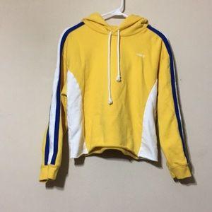 Levi's hooded cropped sweatshirt